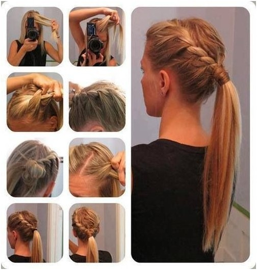 High Ponytail Hairstyles with Braids: Summer to Fall Hairstyle