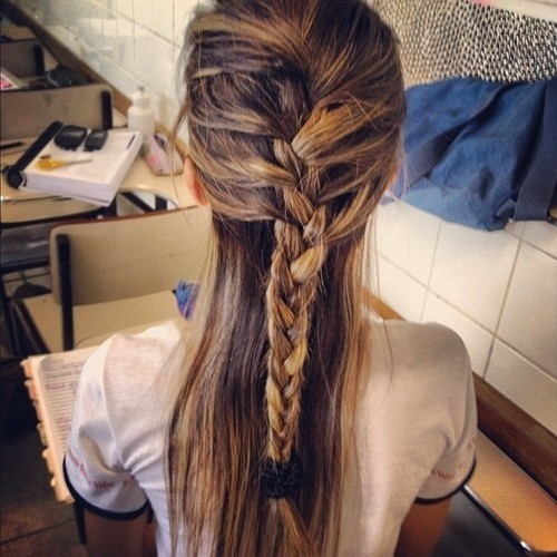 Long Hairstyles Ideas for Girls: Feminine French Braid