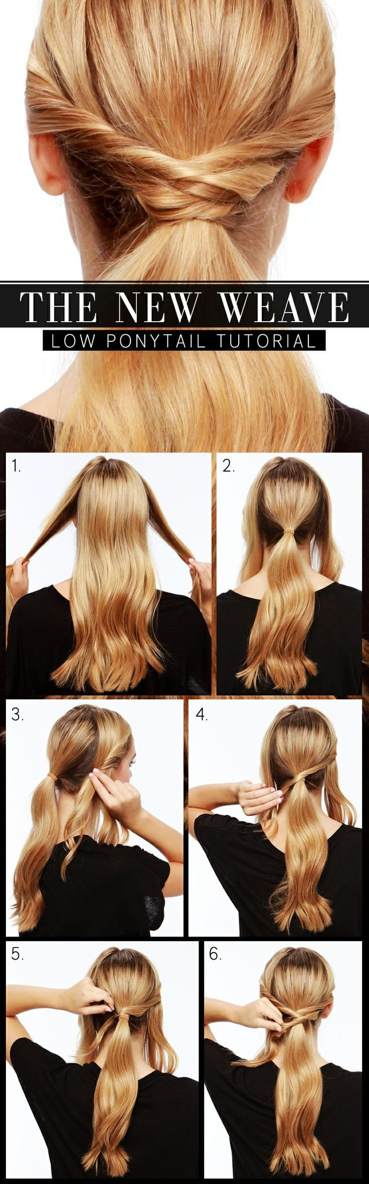 Lovely and Useful Ponytails Hairstyle Tutorials