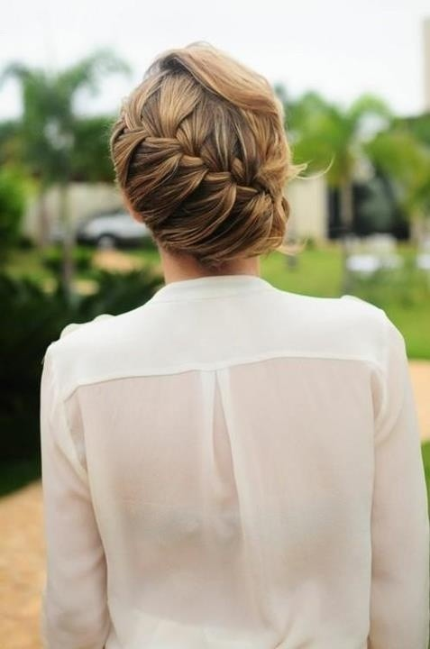 Low Bun Updos with French Braid