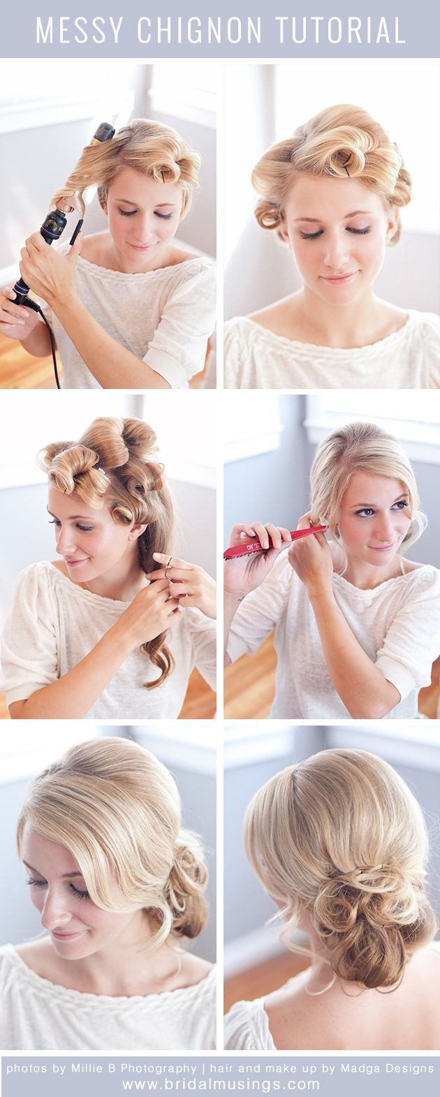 Messy Chignon Tutorial: Wedding Hair Designs for Bridal