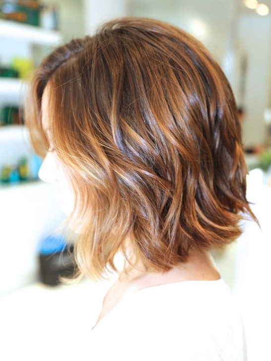 Ombre Bob Haircut: Wavy Hairstyles for Short Hair 2015
