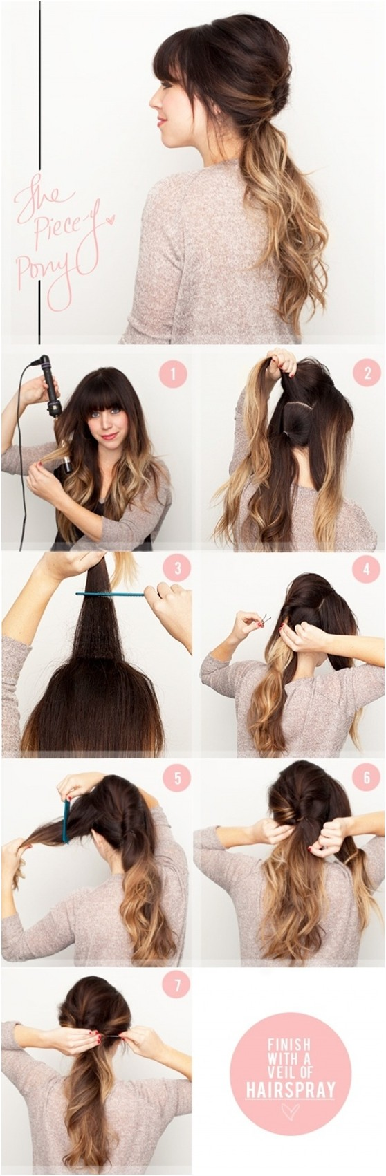 Ombre Ponytail: Cute And Easy Ponytails Hairstyles Tutorials