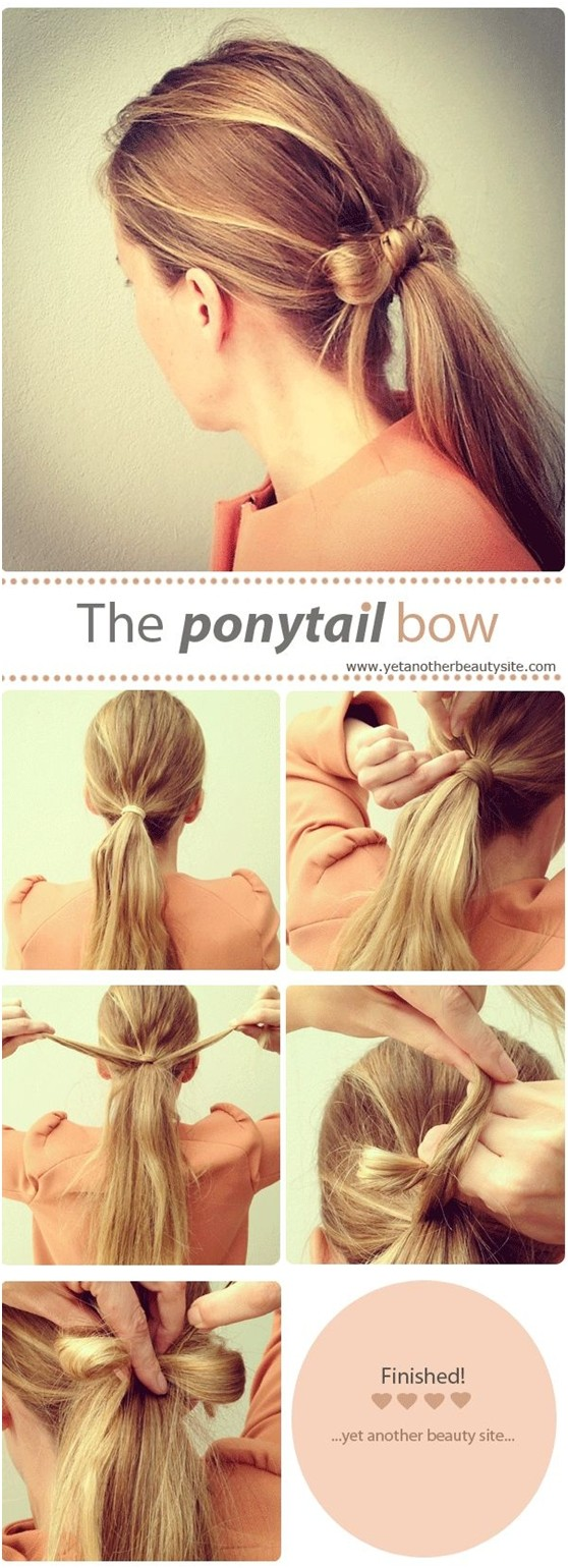Ponytail Bow Step By Step