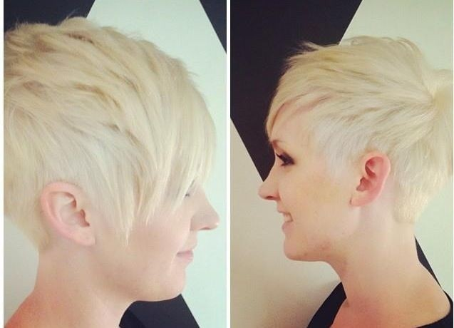 Shaved Pixie Haircut: Side View