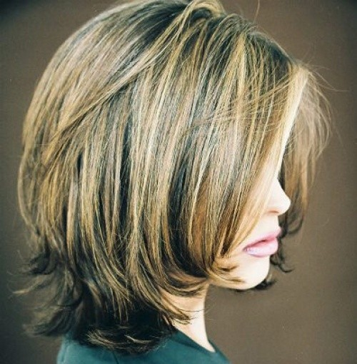 Back View Shoulder Length Layered Haircuts For Thick Hair 73