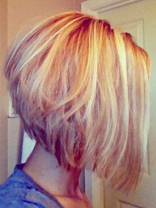Stacked Bob Hairstyles for Fine Hair: Ombre Short Hair / Via