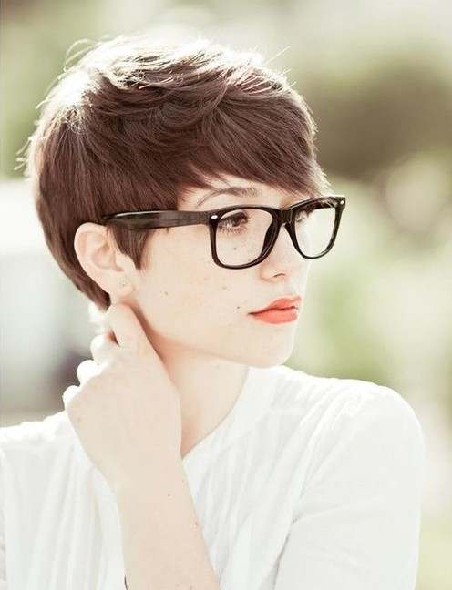 Straight Brown Pixie Haircuts for Fall 2014- 2015