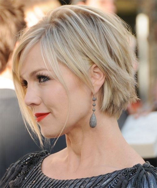 Straight Hairstyles for Short Hair: Side View