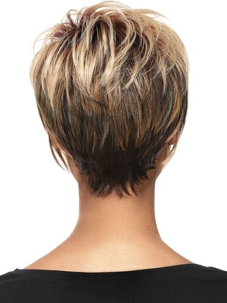 Trendy Hair Color Ideas For Women Short Haircuts Back View