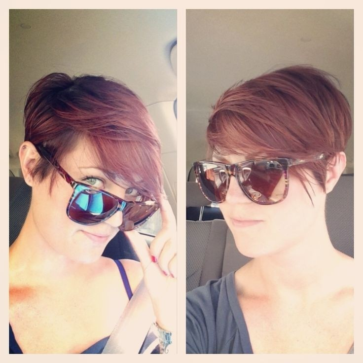 Trendy Pixie Haircut for Side Bangs