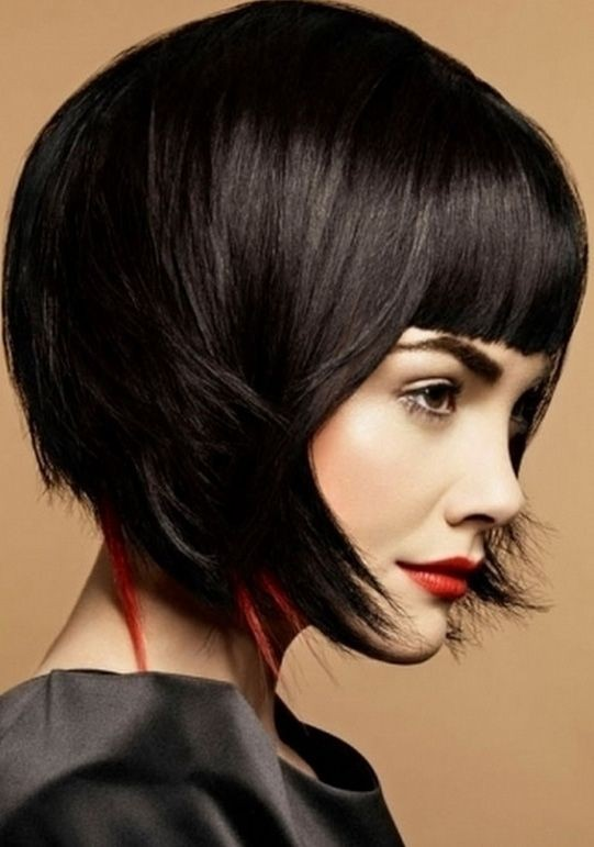 Trendy Short Hairstyles for Blunt Bangs / Pinterest