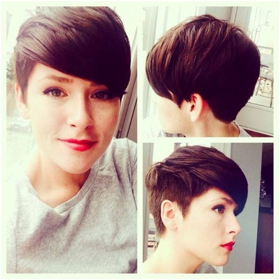 Trendy Short Pixie Haircuts for Long Face: Side View
