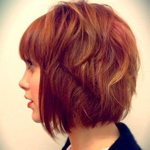 Two Toned Red Hairstyles: Short Bob Haircut
