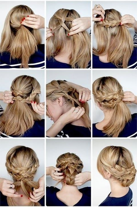 12 hottest wedding hairstyles tutorials for brides and bridesmaids wedding hairstyles tutorial great elegant braided updo ideas for bridal pmusecretfo Images