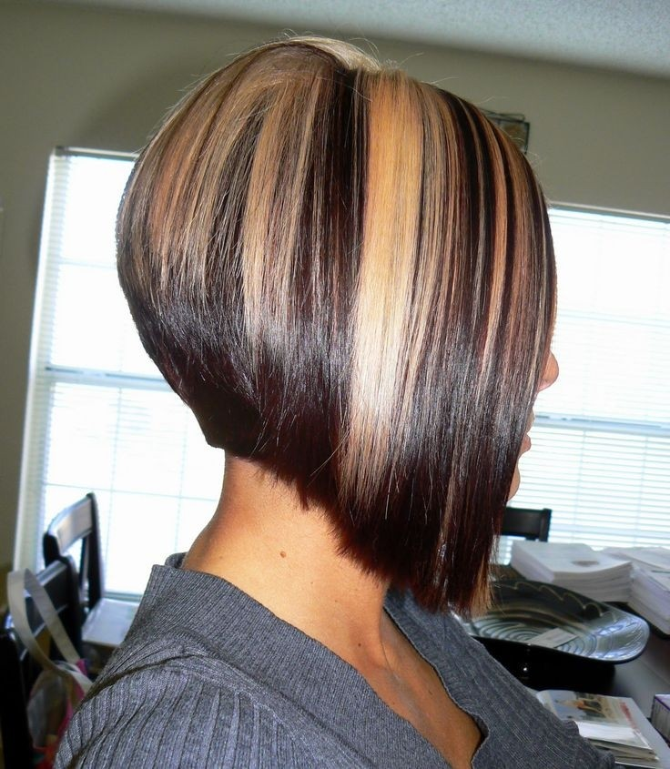 A-line Bob with Chunky Highlights