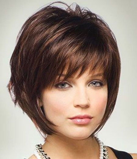 Bob Hairstyles with Side Short Bangs / Via