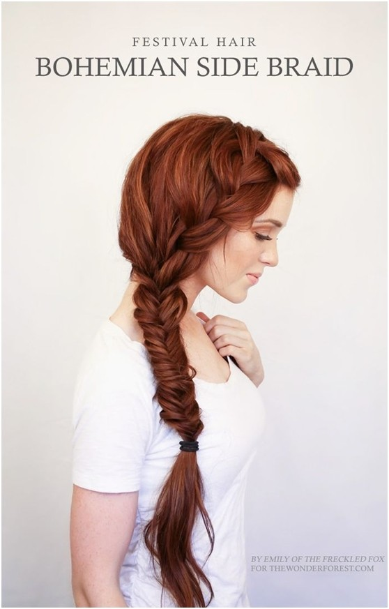 Bohemian Side Braid: Braided Hairstyles for Long Hair
