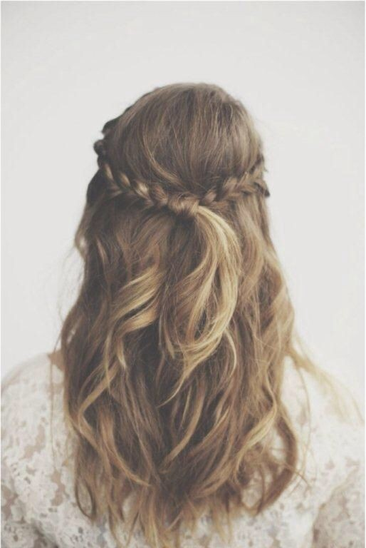 Braided Hair Style Ideas: Half Up Half Down Hairstyles