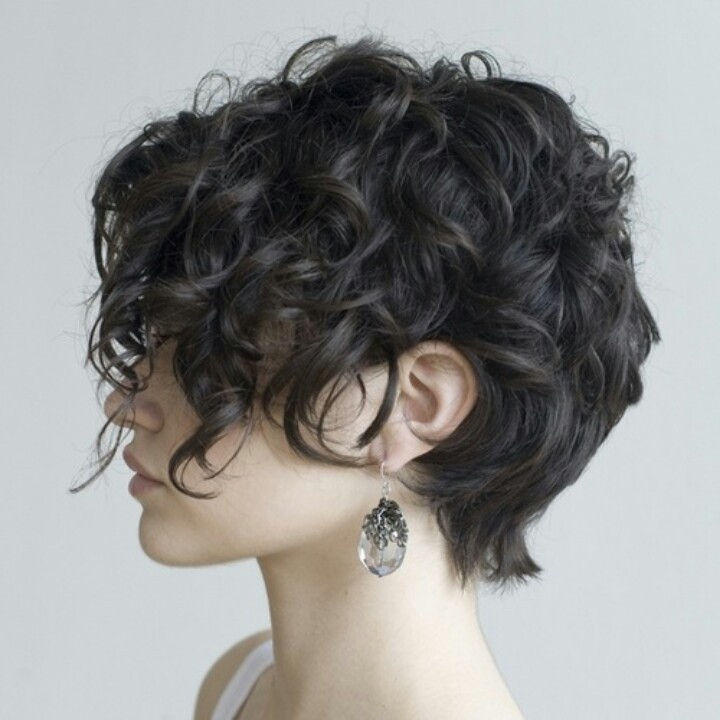 Curly Pixie Cut Side View