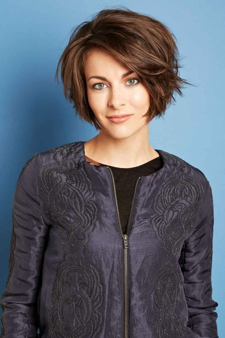 Cute A Line Bob: Short Hairstyles for Heart Shaped Face / via