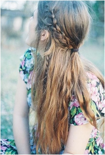 Cute Half Up Braid: Long Hairstyles Ideas for 2014 - 2015