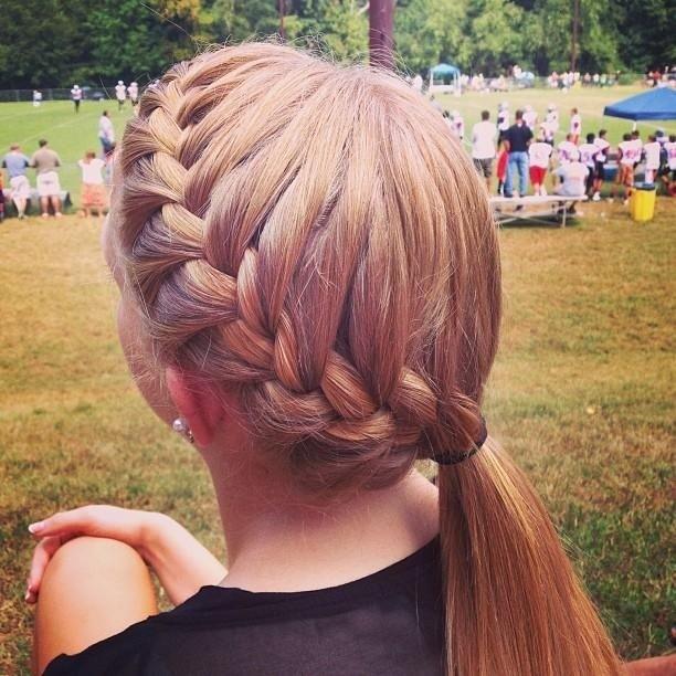 Easy Braid Pony: French Hairstyles