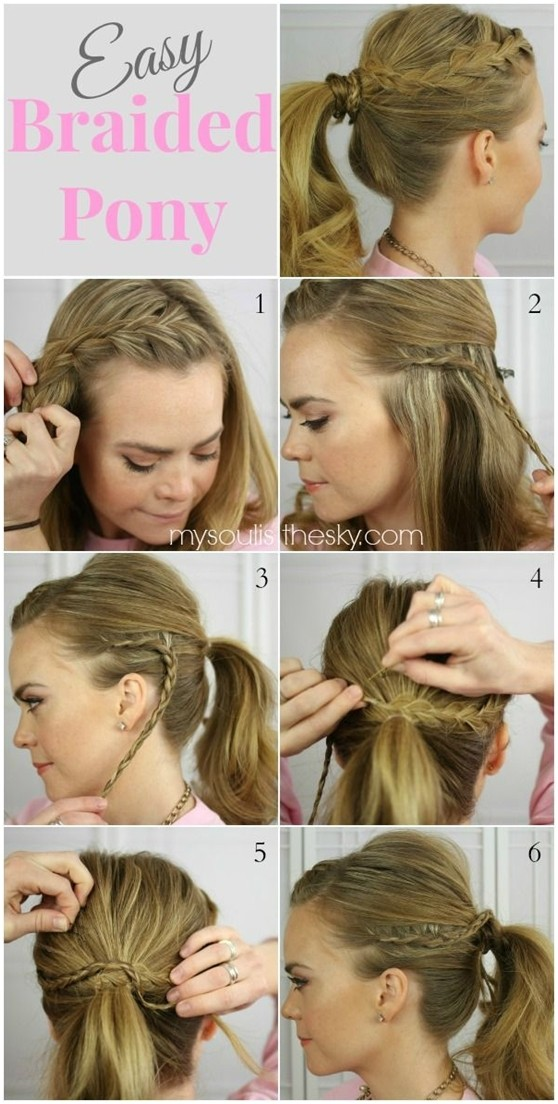 Hairstyles For Short Hair Easy For School : Easy Braided Ponytail Hairstyle Tutorial: Long Hairstyles Ideas for ...