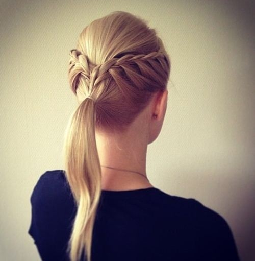 Easy Braided Ponytail Hairstyle for Blonde Fine Hair
