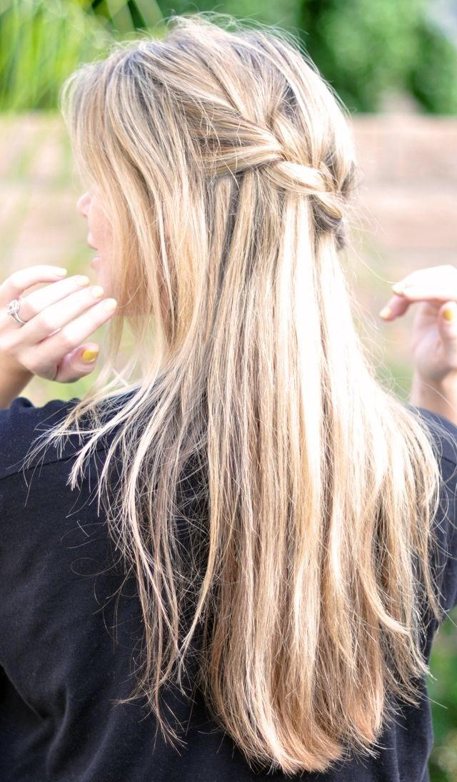 Easy French Braid for Long Hair