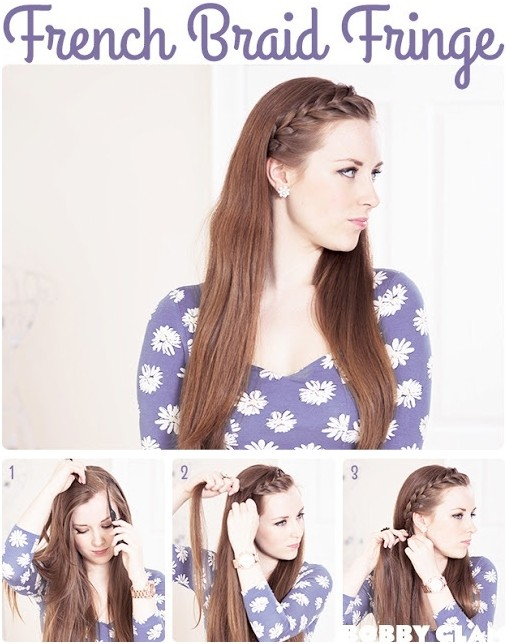 French Braid Bangs for Long Hair: Braid Tutorial