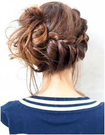 French Braid Bun Ideas Side Updo Hairstyles