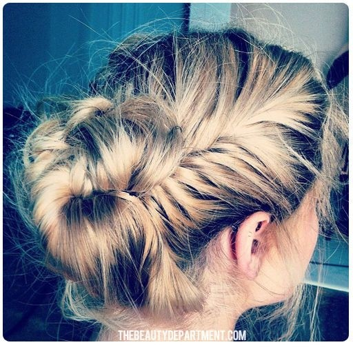French Fishtail Braided Updos: Everyday Hairstyles