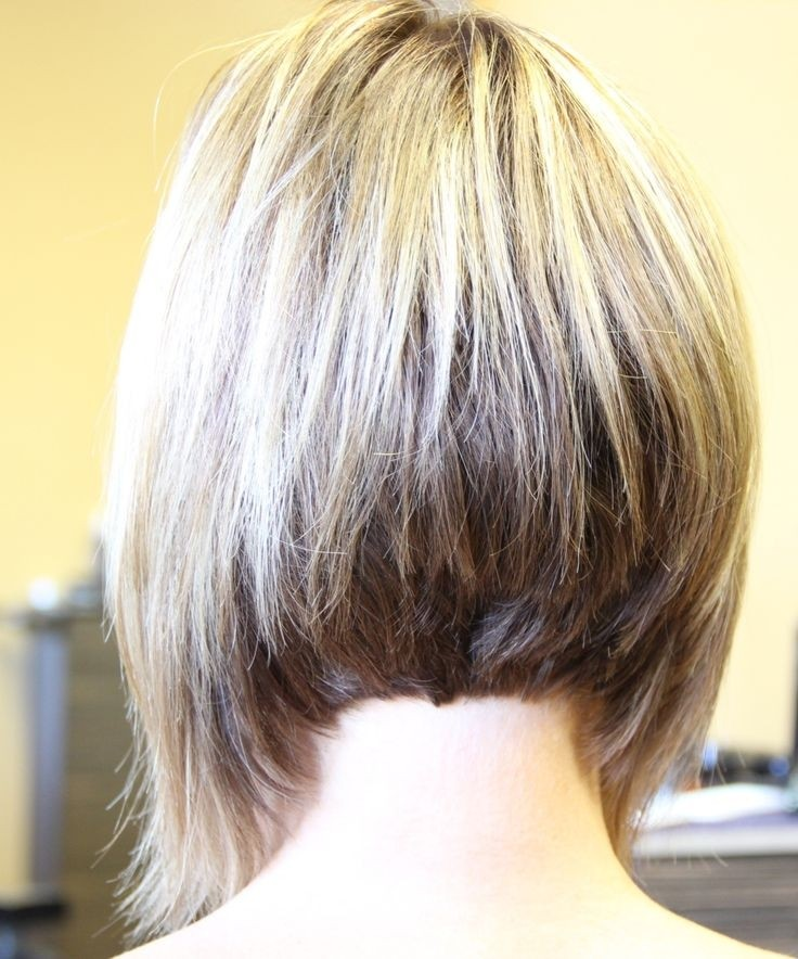 Great A-line Bob Hair Back View: Brown and Blond