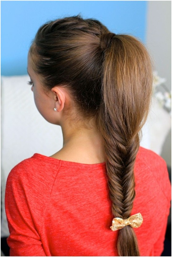 Loose Braided Ponytail Hairstyle: Fishtail Hairstyles 2015