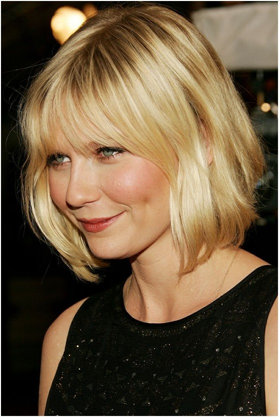 Medium Length Bob Hairstyle Short Haircuts For Round Face