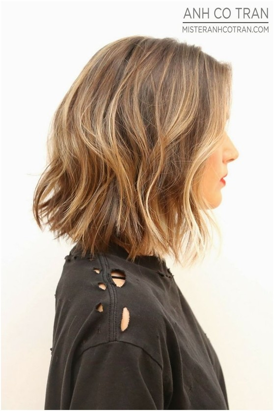 Medium Length Bob Wavy Haircuts Side View