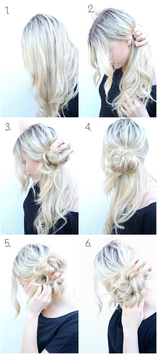 Messy Braid Bun Updos Tutorial
