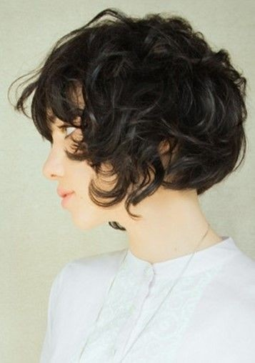 Messy Curly Hairstyle: Asian Short Haircuts