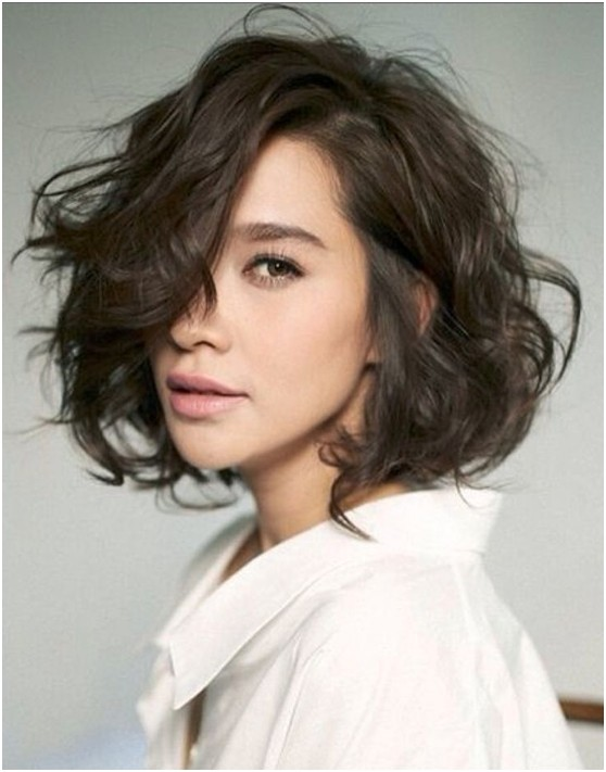 Wavy Bob Hairstyles Without Bangs : Curly bob cut efficient u2013 wodip.com