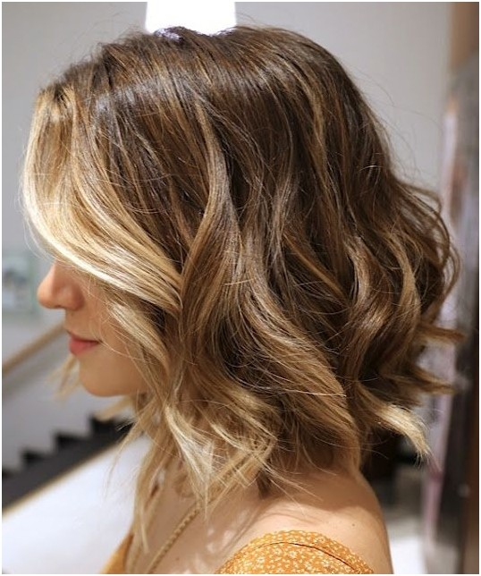 Ombre Bob Hairstyles for Wavy Hair