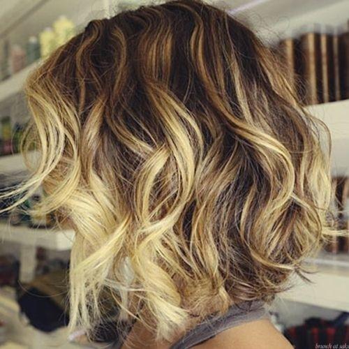 Ombre Short Wavy Hair: Bob Haircuts for Summer