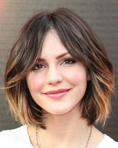 Rounded Bob Haircut with Ombre Coloring