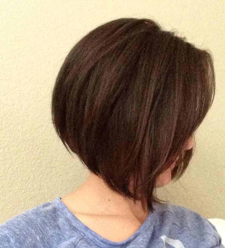 Short A Line Bob with Side Swept Bangs