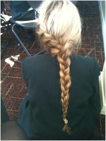 Single French Braid: Blonde Long Hairstyles Ideas
