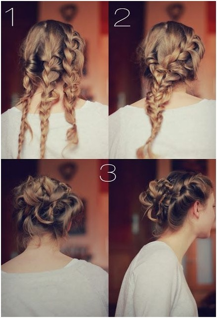 Wonderful Braided Knot Bun Updos: DIY Updo Hairstyles