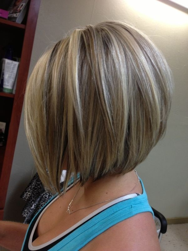Blonde with Dark Low Lights: Medium Straight Bob Hairstyle