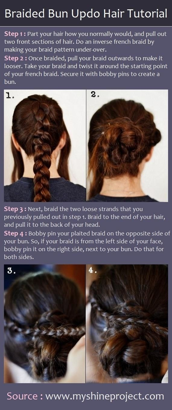 Chic Braided Bun Updo Hair Tutorial