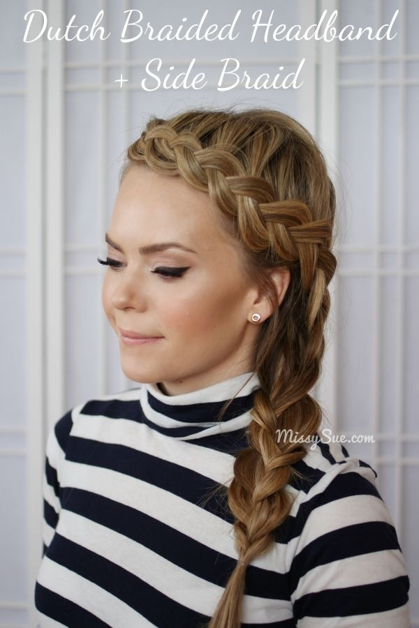 Chic Dutch Braided Headband: Side Braid