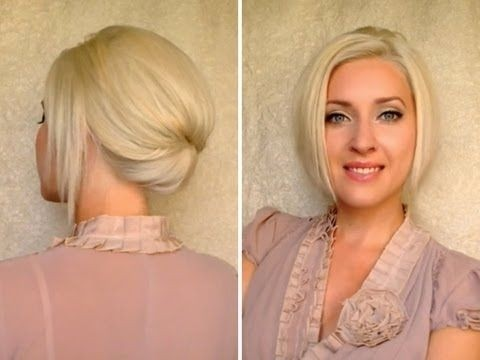 Chic Updo Hairstyle for Short Hair: Suitable for work and office as well as and for special occasions